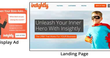 Ads and Landing Page