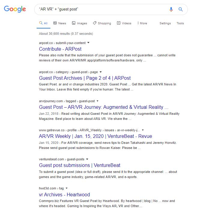 Google Search Strings